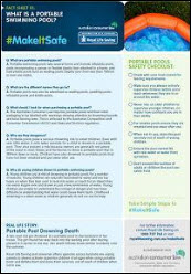 What is a portable swimming pool factsheet 1