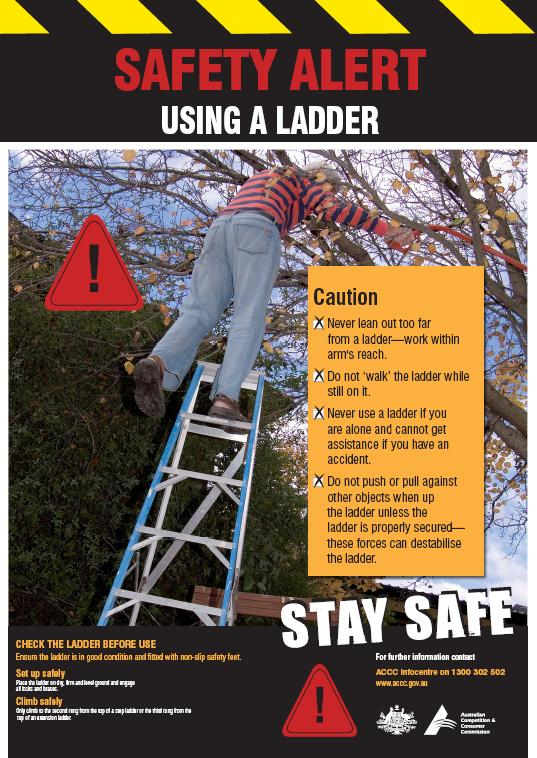 Using A Ladder Poster Product Safety Australia