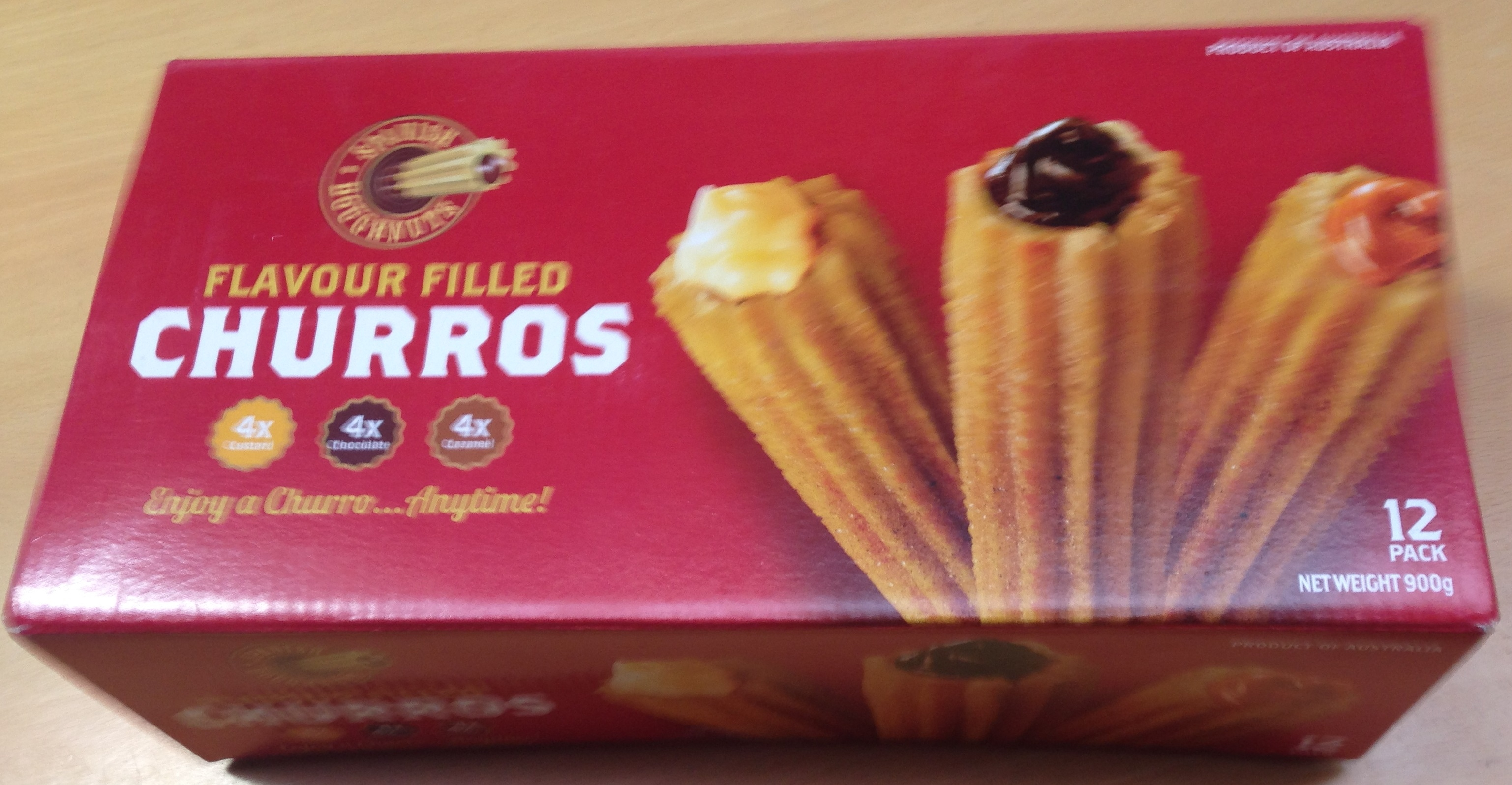 Costco Spanish Doughnuts Flavour Filled Churros Product