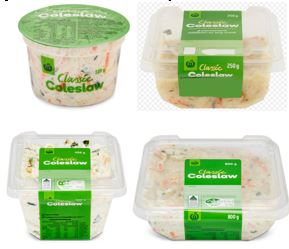 Woolworths Group Limited — Woolworths Classic Coleslaw 110g, 250g, 400g and 800g